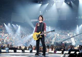 Green Day frontman and guitarist Billie Joe Armstrong and his band perform at the 2012 iHeart Radio Music Festival in MGM Grand Garden Arena on Friday, Sept. 21, 2012.