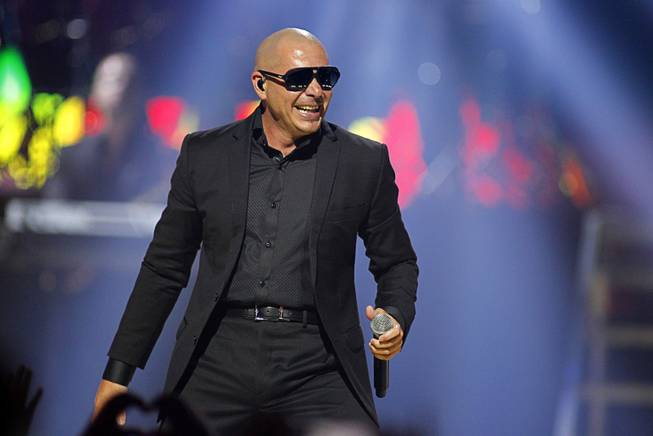 Pitbull performs during second day of the 2012 iHeartRadio Music Festival at the MGM Grand Garden Arena in Las Vegas, Nevada September 22, 2012.