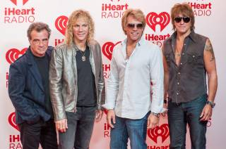 Bon Jovi arrives at Night 1 of the 2012 iHeartRadio Music Festival at MGM Grand Garden Arena on Friday, Sept. 21, 2012.