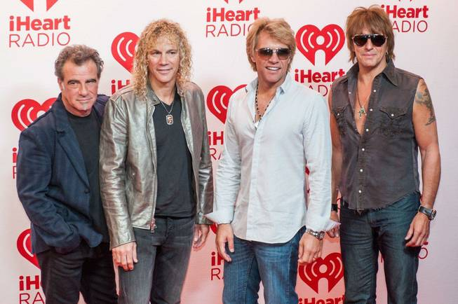 Bon Jovi arrives at Night 1 of the 2012 iHeartRadio ...
