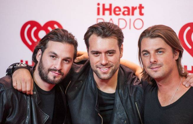 Swedish House Mafia arrives at Night 1 of the 2012 iHeartRadio Music Festival at MGM Grand Garden Arena on Friday, Sept. 21, 2012.