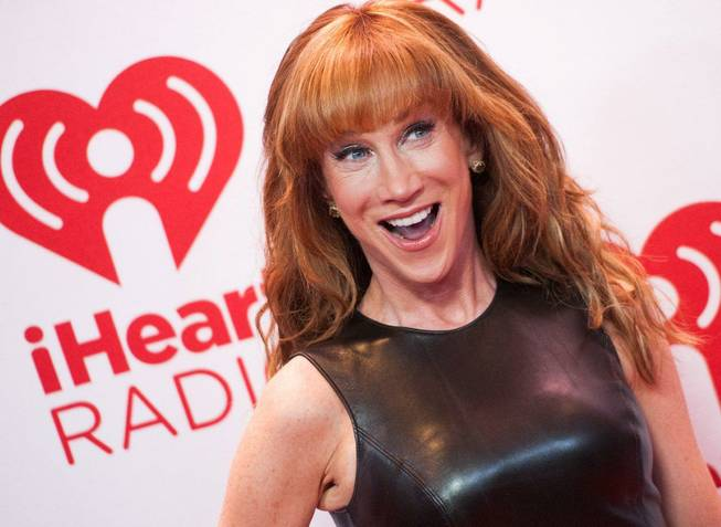 Kathy Griffin arrives at Night 1 of the 2012 iHeartRadio Music Festival at MGM Grand Garden Arena on Friday, Sept. 21, 2012.