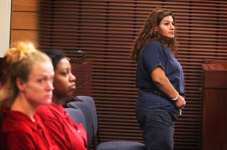Tammy Lucero appears for a hearing in Henderson Justice Court on Tuesday, September 25, 2012.