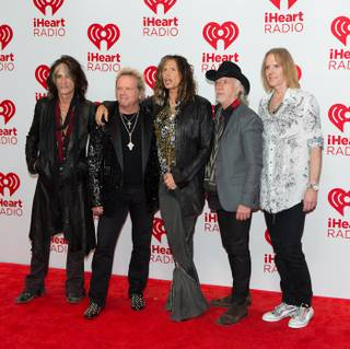 Aerosmith arrives at Night 2 of the 2012 iHeartRadio Music Festival at MGM Grand Garden Arena on Saturday, Sept. 22, 2012.