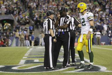 Green Bay Packers Seattle Seahawks in the second half of an NFL football game, Monday, Sept. 24, 2012, in Seattle.