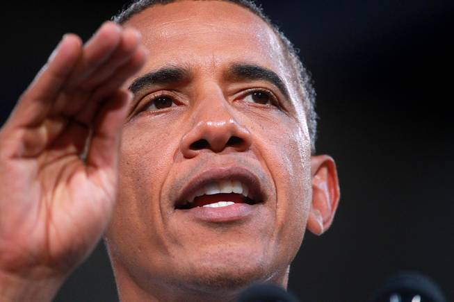 President Obama Speaks at Cashman Center