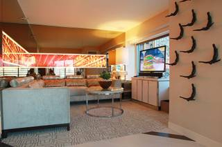 This is the living area of a remodeled suite at the MGM Grand Thursday, Sept. 27, 2102.