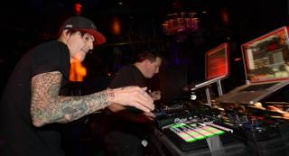 Tommy Lee and DJ Aero at Body English on Friday, Sept. 27, 2013, in the Hard Rock Hotel Las Vegas.