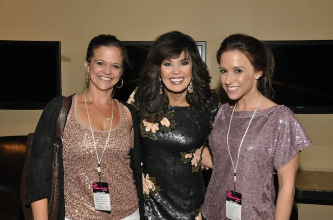 Lacey Chabert, right, with Marie Osmond and her sister at the Flamingo on Wednesday, Sept. 26, 2012.