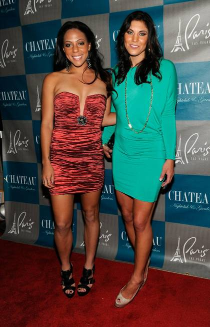 Sydney Leroux and Hope Solo at Chateau Nightclub & Gardens ...