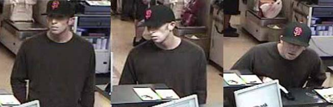 This man was caught on surveillance video robbing a bank Thursday, Sept. 27, 2012, near South Durango Drive and Warm Springs Road.