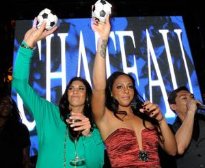 Hope Solo Celebrates at Chateau