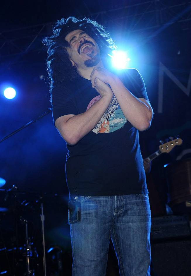 Adam Duritz and his Counting Crows perform during the 2012 Bite of Las Vegas at Desert Breeze State Park on Saturday, Sept. 29, 2012.