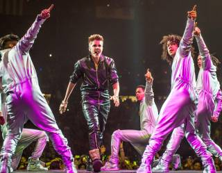 Justin Bieber performs at MGM Grand Garden Arena on Sunday, Sept. 30, 2012.