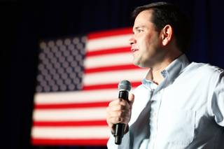 Sen. Marco Rubio, R- Fla. speaks at Green Valley Ranch in Henderson on Tuesday, October 2, 2012.