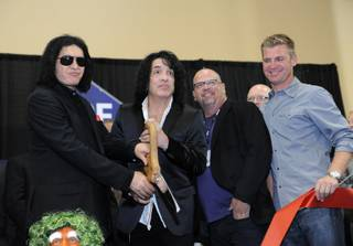 Gene Simmons and Paul Stanley of KISS, Rick Harrison of
