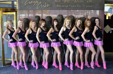 """Crazy Girls"" 25th anniversary celebrations at the Riviera from Oct. 1-3, 2012."