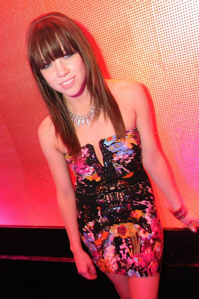 Carly Rae Jepsen at the Bank in the Bellagio on Sunday, Sept. 30, 2012.