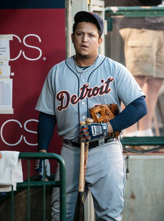 2012 Triple Crown winner Miguel Cabrera of the Detroit Tigers.