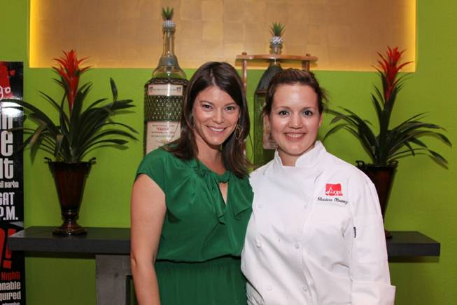 Gail Simmons and Christina Olivarez at Diego in MGM Grand on Friday, Oct. 5, 2012.