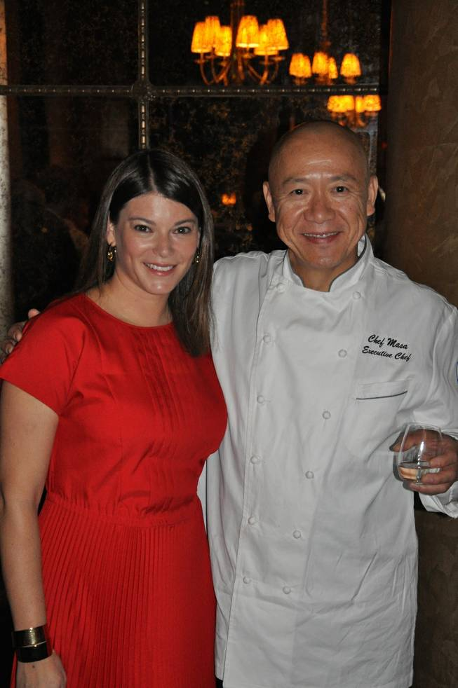 Gail Simmons and Masa Takayama at Bar Masa in Aria during Day 2 of the 2012 Food & Wine All-Star Weekend on Saturday, Oct. 6, 2012.
