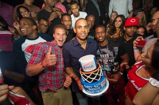 Chris Paul, right, of the Los Angeles Clippers hosts the preseason Baller's Ball at Tao in the Venetian on Friday, Oct. 5, 2012. Teammate Grant Hill, center, with Blake Griffin and Paul, celebrates his 40th birthday at Tao.