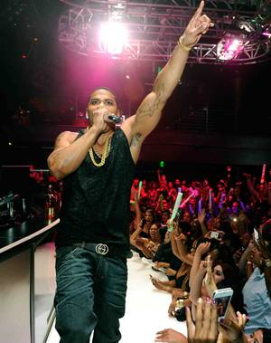 Nelly hosts and performs at Haze in Aria on Saturday, Oct. 6, 2012.