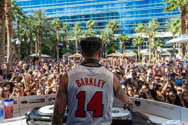 DJ Pauly D spins at Rehab in the Hard Rock ...