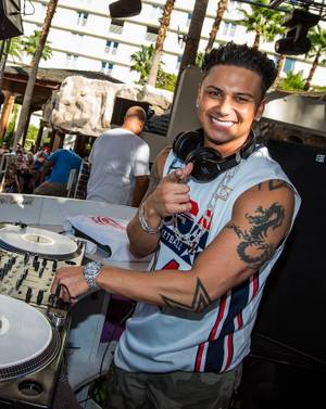 DJ Pauly D spins at Rehab in the Hard Rock Hotel on Sunday, Oct. 7, 2012.