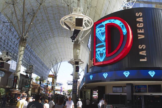 A view of new signage at The D Las Vegas in Downtown Las Vegas on Tuesday, Oct. 9, 2012.