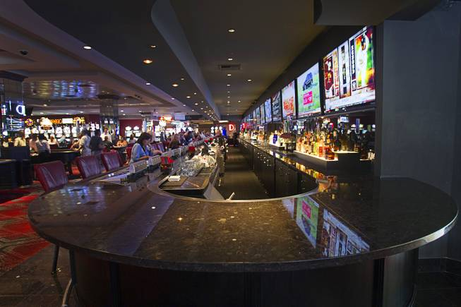 The Long Bar is shown at the D Las Vegas in downtown Las Vegas Tuesday, Oct. 9, 2012. The casino, formerly Fitzgeralds, is celebrating it's rebranding and renovation with festivities this weekend.
