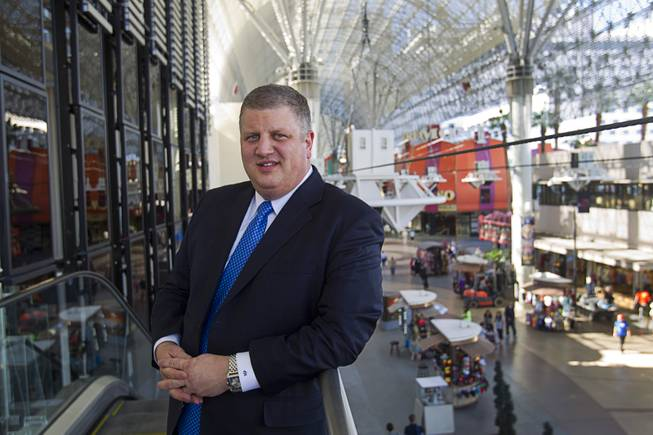 CEO Derek Stevens poses at the D Las Vegas in downtown Las Vegas Tuesday, Oct. 9, 2012. The casino, formerly Fitzgeralds, is celebrating it's rebranding and renovation with festivities this weekend.