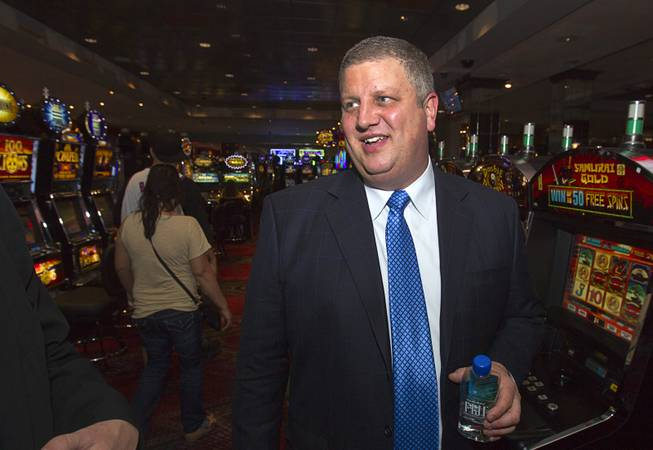 D Las Vegas CEO Derek Stevens is shown in the casino in downtown Las Vegas Tuesday, Oct. 9, 2012. The casino, formerly Fitzgeralds, is celebrating it's rebranding and renovation with festivities this weekend.
