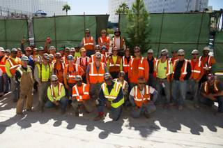 The construction team of the McCarthy Building Companies is shown at Hakkasan Las Vegas in MGM Grand on Tuesday, Oct. 9, 2012.