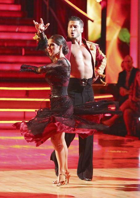 "Kelly Monaco and Val Chmerkovskiy compete on ABC's ""Dancing With the Stars"" on Monday, Oct. 8, 2012."