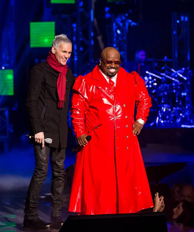 "The ""CeeLo and Friends"" Christmas show and Keep Memory Alive fundraiser featuring CeeLo Green (pictured here with Tony Vincent), Rod Stewart, the Muppets and ""The Voice"" contestants at Peepshow Theater in Planet Hollywood on Wednesday, Oct. 10, 2012."