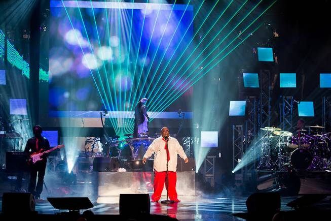"The ""CeeLo and Friends"" Christmas show and Keep Memory Alive fundraiser featuring CeeLo Green, Rod Stewart, the Muppets and ""The Voice"" contestants at Peepshow Theater in Planet Hollywood on Wednesday, Oct. 10, 2012."