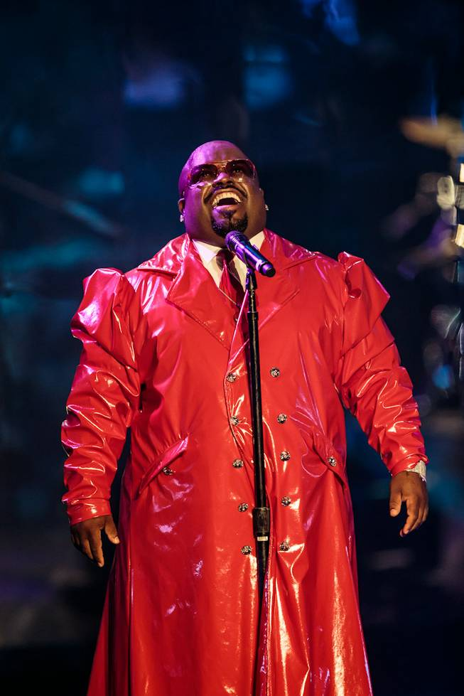 "The ""CeeLo and Friends"" Christmas show and Keep Memory Alive fundraiser featuring CeeLo Green (pictured here), Rod Stewart, the Muppets and ""The Voice"" contestants at Peepshow Theater in Planet Hollywood on Wednesday, Oct. 10, 2012."