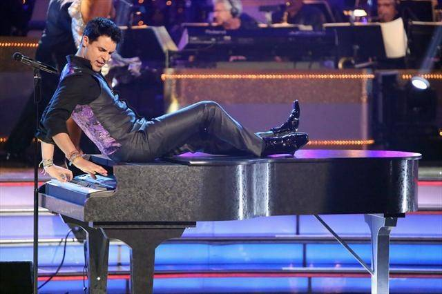 "Stratosphere headliner Frankie Moreno performs on ABC's ""Dancing With the Stars"" on Tuesday, Oct. 9, 2012."