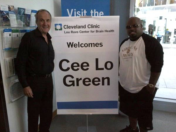 Larry Ruvo and CeeLo Green at the Cleveland Clinic Lou Ruvo Center for Brain Health in downtown Las Vegas.