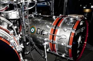 A close up of Nigel Olsson's bass drum.
