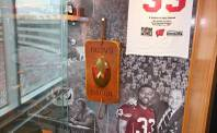 The Slab of Bacon trophy was the precursor to Paul Bunyan's Axe as the prize in the Wisconsin-Minnesota football series. It is currently housed in the football office at Wisconsin.
