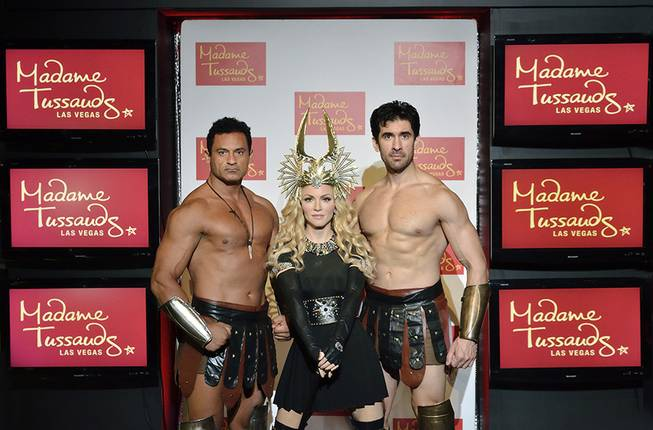 The wax figure of Madonna is unveiled at Madame Tussauds in the Venetian on Thursday, Oct. 11, 2012.