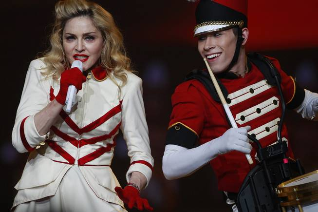 Madonna performs at MGM Grand Garden Arena on Saturday, Oct. 13, 2012.