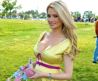 Holly Madison attends the Forever Home Family Picnic to benefit Lied Animal Foundation on Saturday, Oct. 13, 2012.