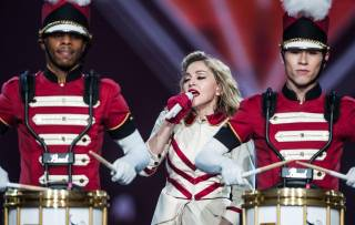 Madonna's 2012 MDNA Tour concert at MGM Grand Garden Arena on Saturday, Oct. 13, 2012.
