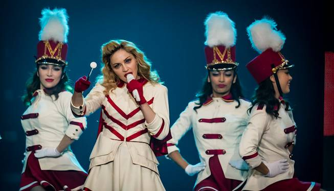 Madonna's 2012 MDNA Tour concert at MGM Grand Garden Arena ...