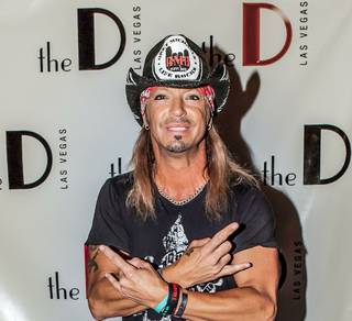 The D Las Vegas' grand opening weekend with Bret Michaels, owner Derek Stevens and his brother Greg Stevens, Jizzy Pearl and Greg Maddux on Saturday, Oct. 13, 2012.