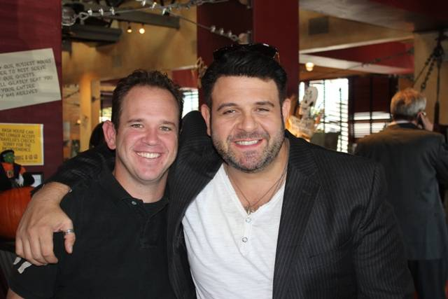 Brannon Rees and Adam Richman at Hash House a Go Go on West Sahara in Las Vegas.