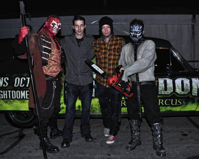 Courtney Gains, Jason Egan, DJ Ashba and Danielle Harris at Circus Circus' Fright Dome.
